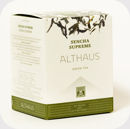 Чай в пирамидках Althaus Sencha Supreme (Сенча Суприм) 15 шт