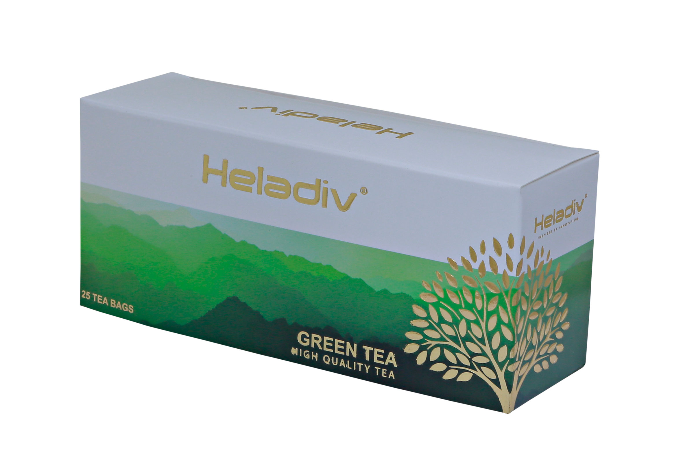 Чай в пакетиках heladiv green tea 25 пакетов