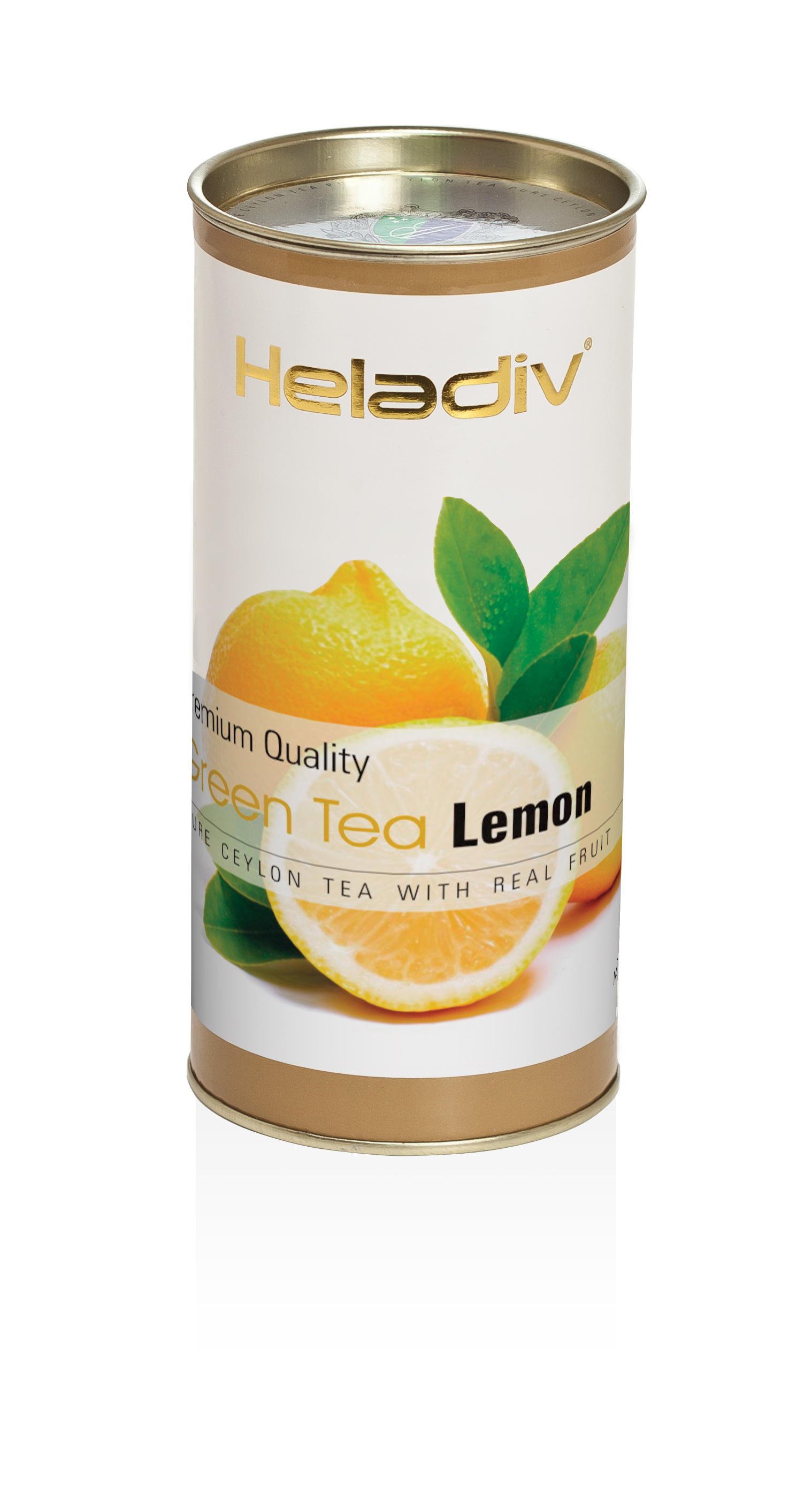 Чай листовой  heladiv green tea lemon 100 гр в тубе