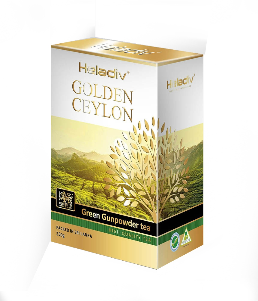 Чай листовой heladiv Golden Ceylon Green Gunpowder 250 г