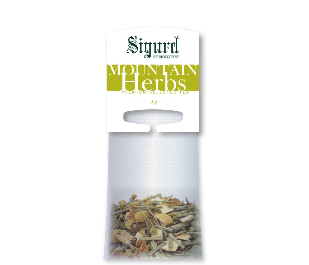 Чай в пакетиках для чайника Sigurd Mountain Herbs ( Горные травы) 20*5 пак.